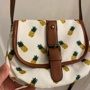 Pineapple crossbody purse